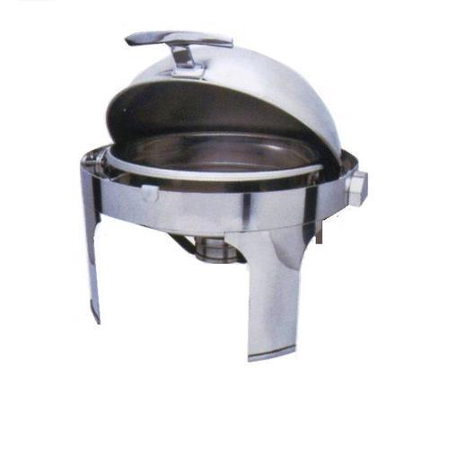 Мармит настольный (чафиндиш) круглый с крышкой Roll Top, ZC203, 485х480х310мм,